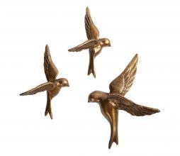Afbeelding van product: BePureHome Avaler Too vogels set van 3 metaal antique brass