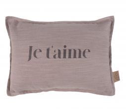 Afbeelding van product: Zusss kussen Je T 'aime 35x25 cm lila