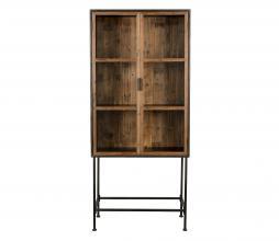Afbeelding van product: Dutchbone Berlin vitrinekast 181x83x43 cm staal/hout zwart/bruin
