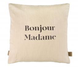 Afbeelding van product: Zusss kussen Bonjour Madame 45x45 cm champagne