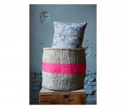 Afbeelding van product: Selected by Opbergmanden set van 2 sisal grijs/roze