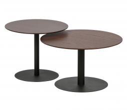 Afbeelding van product: WOOOD Exclusive Odin salontafel ø60 cm eiken/metaal walnoot/zwart
