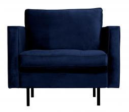 Afbeelding van product: BePureHome Rodeo Classic fauteuil velvet donkerblauw nightshade