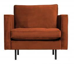 Afbeelding van product: BePureHome Rodeo Classic fauteuil velvet roest