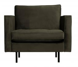 Afbeelding van product: BePureHome Rodeo Classic fauteuil velvet dark green hunter