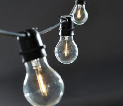 Afbeelding van product: House Doctor Bulb lichtsnoer 10 LED lampen (binnen-buiten) zwart