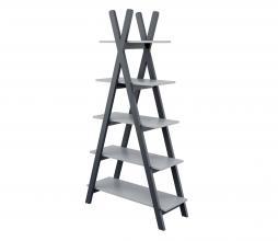 Afbeelding van product: WOOOD Tipi boekenkast 170x90x35 cm hout betongrijs