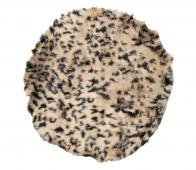 Safari vloerkleed ø80 cm beige/bruin