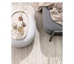 Afbeelding van product: vtwonen Pebble bijzettafel 31x65x49cm (binnen-buiten) betonlook wit