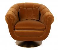 Dutchbone Member fauteuil velvet whiskey