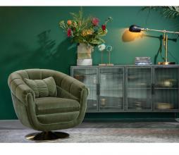 Afbeelding van product: Dutchbone Member fauteuil velvet olijfgroen