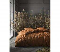 Afbeelding van product: Selected by Minte dekbedovertrek katoen leather brown lits-jumeaux (240x220cm)
