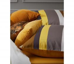 Afbeelding van product: Selected by Riv kussen 45x45 cm curduroy rib leather brown