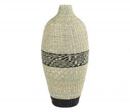 Afbeelding van product: Selected by Waipen decoratie vaas zeegras zwart - naturel