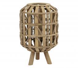 Afbeelding van product: Selected by Herba lantaarn hout bruin, div afmetingen Ø 22x34 cm
