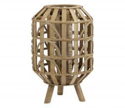 Afbeelding van product: Selected by Herba lantaarn hout bruin, div afmetingen Ø 25x39 cm