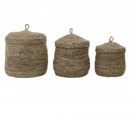 Afbeelding van product: Selected by Mangala set van 3 manden bruin