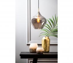 Afbeelding van product: Selected by Rakel hanglamp glas Ø27cm antiek brons-smoke