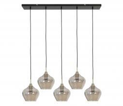 Afbeelding van product: Selected by Rakel hanglamp 5L glas antiek brons-smoke