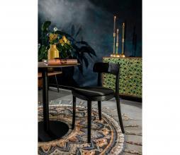 Afbeelding van product: Dutchbone Brandon stoel hout velvet zwart-zwart