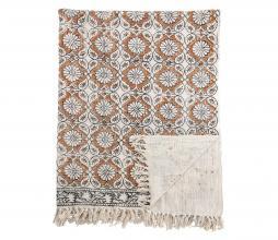 Afbeelding van product: Selected by Flower plaid 150x115 cm katoen bruin
