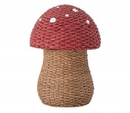 Afbeelding van product: Selected by Paddenstoel opbergmand zeegras rood/naturel