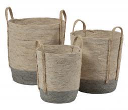 Afbeelding van product: BePureHome Indian opbergmanden set van 3 naturel/grijs