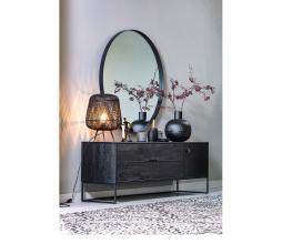 Afbeelding van product: WOOOD Exclusive Moza tafellamp Ø36cmbamboe zwart