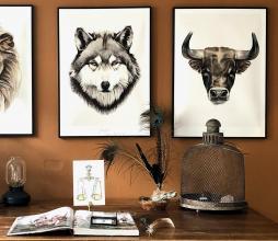 Afbeelding van product: Selected by Taurus kunstposter 40x30 cm