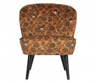WOOOD Sara fauteuil velvet fenix print