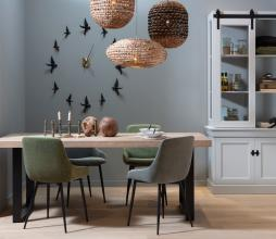 Afbeelding van product: WOOOD Exclusive Selin eetkamerstoel velvet bleekgroen
