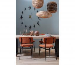 Afbeelding van product: WOOOD Dané eetkamerstoel ribstof oranje