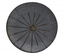 Afbeelding van product: House Doctor Suns bord ø16 cm porselein donkerbruin