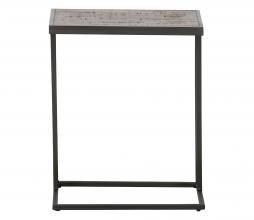 Afbeelding van product: WOOOD Vic bijzettafel U-vorm hout/metaal bruin/zwart