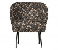 BePureHome Vogue fauteuil velvet aquarel flower zwart