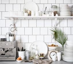 Afbeelding van product: vtwonen servies: Plat bord porselein wit, div maten dinerbord Ø 25,5 cm