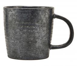 Afbeelding van product: Housedoctor Pion beker Ø 9cm porselein bruin/zwart