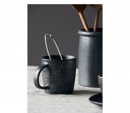 Afbeelding van product: House Doctor Pion beker Ø 9cm porselein bruin/zwart