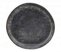 House Doctor Pion gebaksbordje Ø16,5 cm porselein zwart/bruin