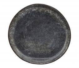 Afbeelding van product: Housedoctor Pion gebaksbordje Ø16,5 cm porselein zwart/bruin