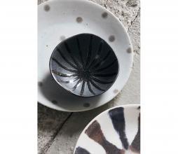 Afbeelding van product: House Doctor Suns kom ø9 cm porselein zwart/bruin