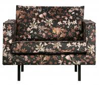 BePureHome Rodeo 1,5 fauteuil velvet aquarel flower chestnut