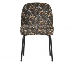 Afbeelding van product: BePureHome Vogue eetkamerstoel velvet aquarel flower zwart
