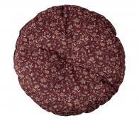 BePureHome Vogue kussen ø45 cm velvet sprinkle flower chestnut