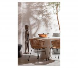 Afbeelding van product: WOOOD Damon eettafel betonlook (binnen-buiten) wit