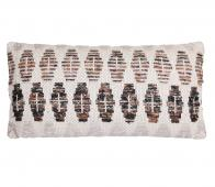 Selected by Eduardo kussen 60x30 cm off-white/ bruin