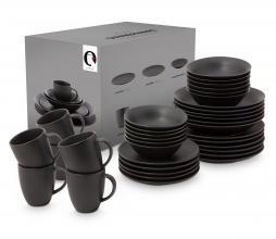 Afbeelding van product: vtwonen 36-delige serviesset porselein zwart