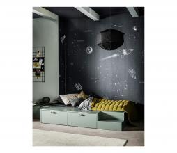 Afbeelding van product: vtwonen Titan hanglamp 60x60x40cm linnen zwart