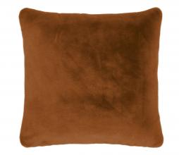 Afbeelding van product: Selected by Furry kussen 50x50 cm fake fur leather brown