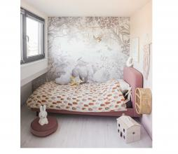 Afbeelding van product: Selected by Beary much dekbedovertrek 140x220 cm katoen lichtbeige